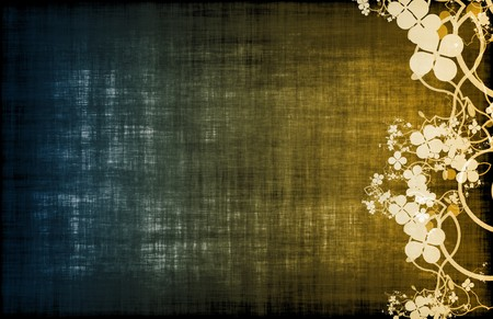 A Grunge Floral Decor Old Texture Background