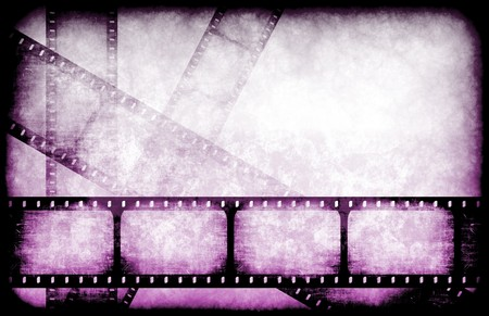 Movie Industry Highlight Reels as a Abstract Stock Photo