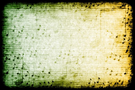composed: A Music Themed Abstract Grunge Background Texture Stock Photo
