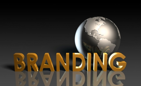 trend: Global Branding and Awareness of a Brand Name Stock Photo