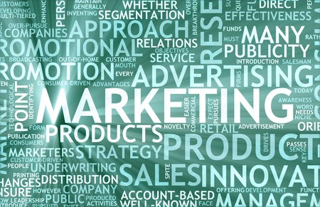 public market: Marketing Background as Art with Related Terms Stock Photo