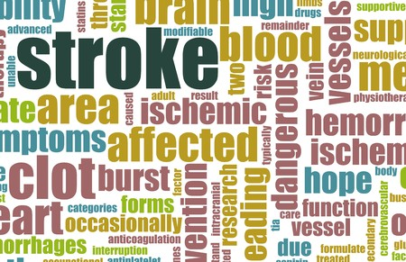 blood supply: Stroke Medical Concept of Early Warning Signs