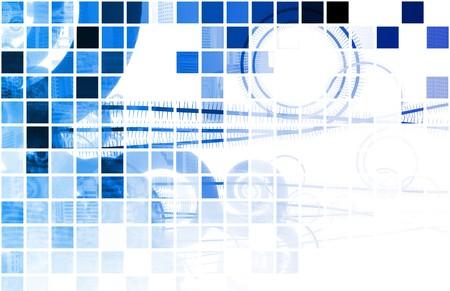 medische kunst: Blauwe medische technologie van de wetenschap als een kunst  Stockfoto