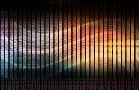 Informatie technologie systeem concept als een kunst  Stockfoto
