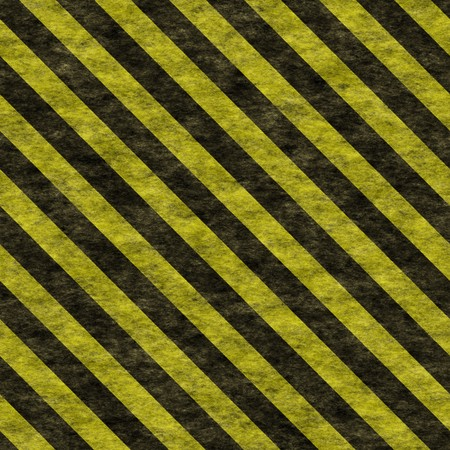 Seamless Warning Background Sign in Black Yellow Stock Photo - 7162636