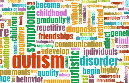 病状の背景として自閉症の概念 写真素材 - 7162550