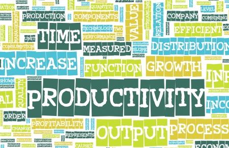 Productivity in the Work Place as a Concept Foto de archivo