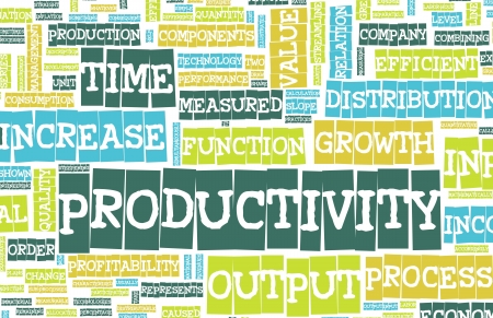 Productivity in the Work Place as a Concept Banco de Imagens