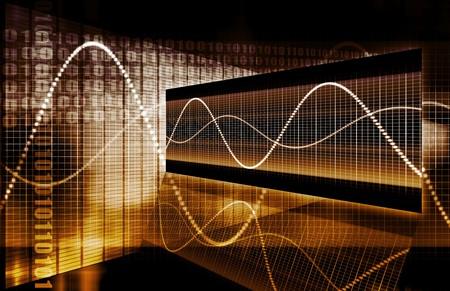 financial sector: A Finance Spreadsheet Tech Graph Art Background Stock Photo