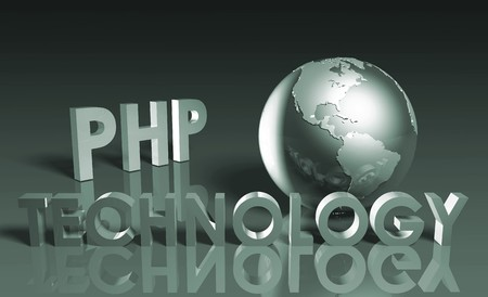 PHP Technology Internet Abstract as a Concept  Stock Photo