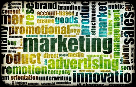 marketing online: Marketing Background as Art with Related Terms Stock Photo