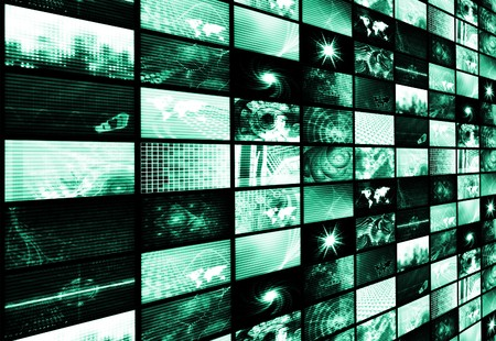 Futuristic Digital Age TV and Channels Background Stock Photo - 7211776