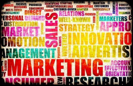 human relations: Marketing Background as Art with Related Terms Stock Photo