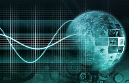 아트 배경으로 정보 기술 그래프