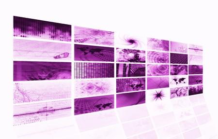 Purple Futuristic Digital Age TV Sets Background Stock Photo - 7207465
