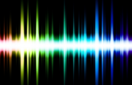 frequency: Soundwave Digital Graph as Clip Art Abstract Stock Photo