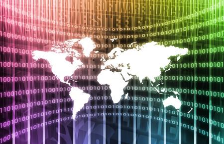 抽象的なアートとして WWW サイバー スペース ビジネス システム 写真素材
