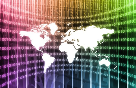 WWW Cyberspace Business System as Art Abstract Stock Photo - 7207669