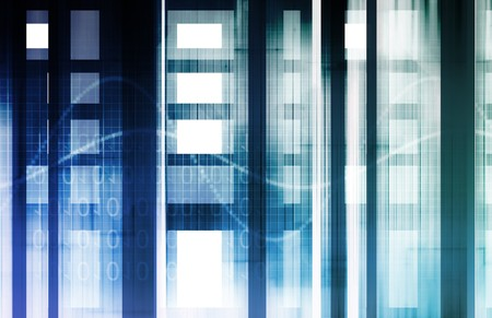 Technology Concept with Online Media Abstract Art photo