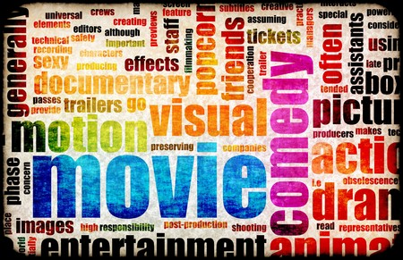 Movie Poster of Film Genres Vintage Background Stock Photo - 7207407