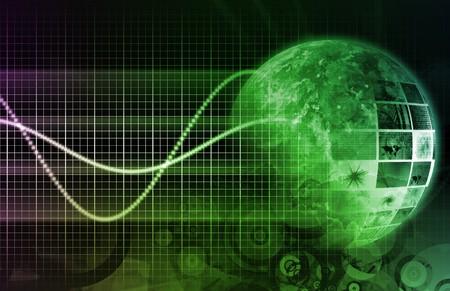 Future Technology of the World Data Grid 스톡 콘텐츠
