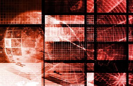 Red Futuristic Technology as a Digital Art Stock Photo - 7207435