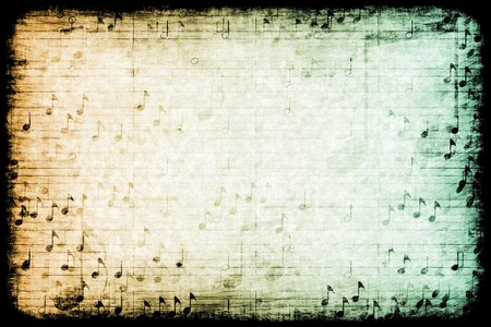 A Music Themed Abstract Grunge Background Texture Stock Photo - 7211843