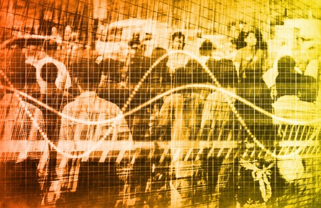 demographic: Un consumatore vendite demografici grafico Speadsheet arte Archivio Fotografico