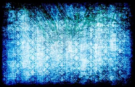 Blue Grunge Style Vintage Background as Art