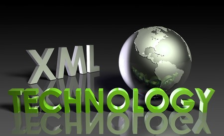 XML Technology Internet Abstract as a Concept Stock Photo - 7261434