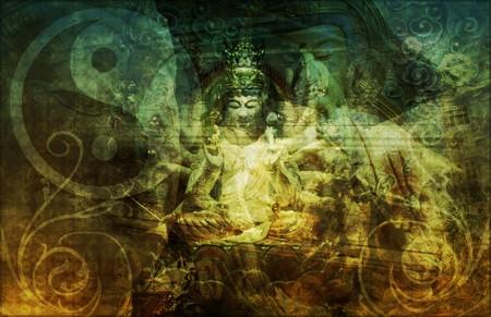 iluminados: Zen fondo de pantalla abstracta como arte Foto de archivo
