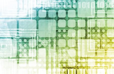 Futuristische achtergrond op innovatie als een concept  Stockfoto