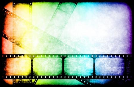 movie sign: Reels de resaltado de industria de pel�cula como un resumen de la