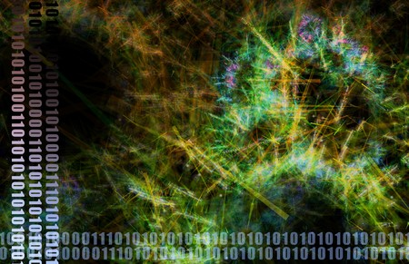 A Neural Network Internet Tech Abstract Art photo