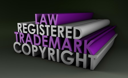 Registered and Copyright Trademark Law in 3d Stock Photo - 7261435