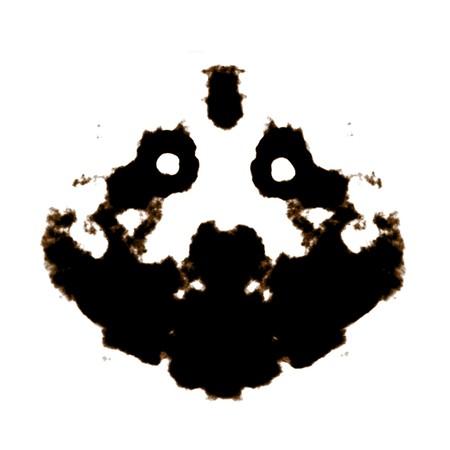 esquizofrenia: Test de Rorschach de una tarjeta de Blot de tinta  Foto de archivo
