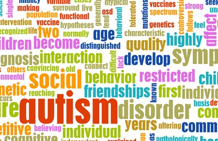 Autism Concept as a Medical Condition Background Stock Photo - 7261458