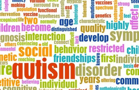 handicap: Concetto di autismo come una priorit� bassa condizione medica  Archivio Fotografico