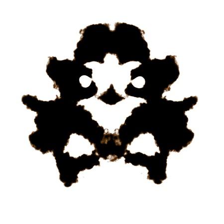 Rorschach Test van een inkt vlek kaart Stockfoto