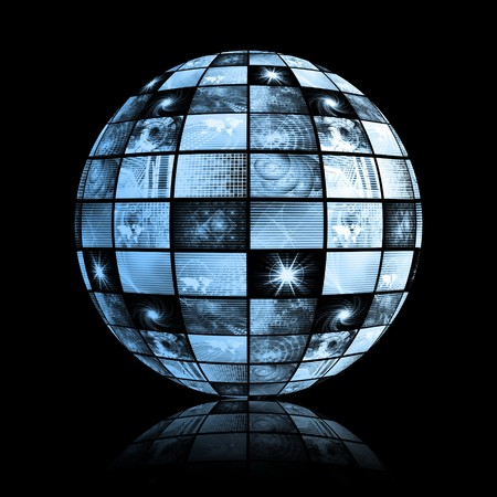 글로벌 미디어 기술 세계 구 클립 아트 스톡 콘텐츠