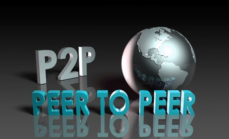 P2P Peer to Peer Technology in 3d Stock Photo - 7286633