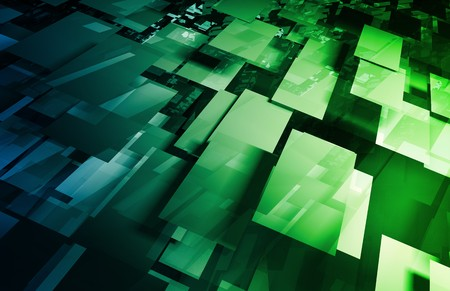 Futuristic Abstract as a Technology Background Art Stock Photo - 7286666