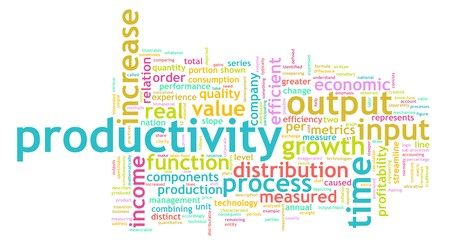 enhancing: Productivity in the Work Place as a Concept Stock Photo