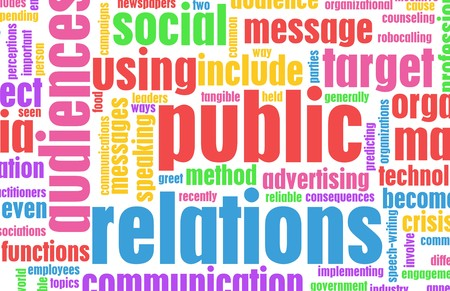 Public Relations PR Concept as a Abstract photo