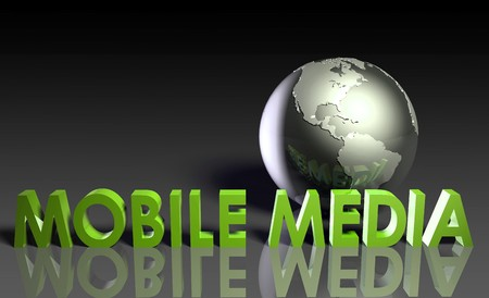 Mobile Media Content of Online Entertainment in 3d Stock Photo - 7286632