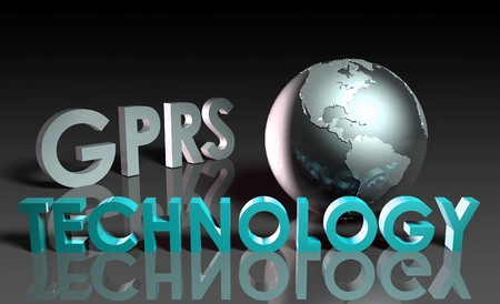 gprs: GPRS Mobile Technology Abstract as a Concept  Stock Photo