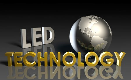 led lighting: LED Modern Technology Abstract as a Concept  Stock Photo
