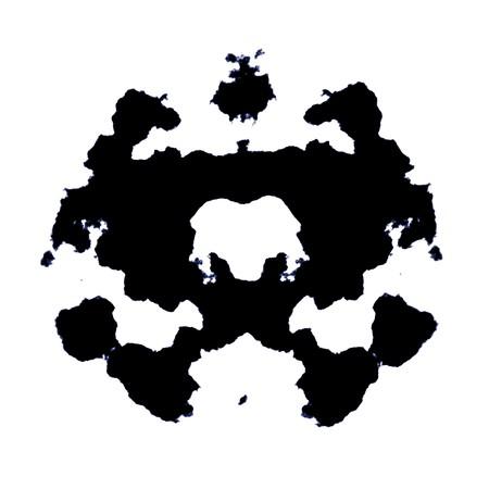 ink blots: Rorschach Test of an Ink Blot Card Stock Photo