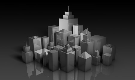 Urban Development Projects Concept in 3d Art photo