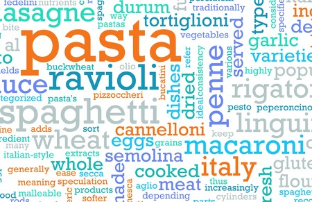reciept: Pasta Assorted Variety Background As a Abstract